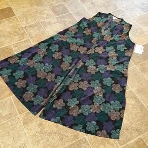 NWT LuLaRoe women's size M floral Joy long vest